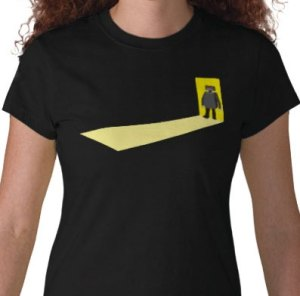 Robot in Doorway t-shirt