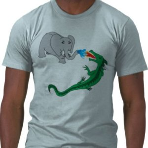 Elephant vs. Dragon T-shirt