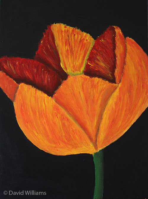 Red Yellow Tulip Painting