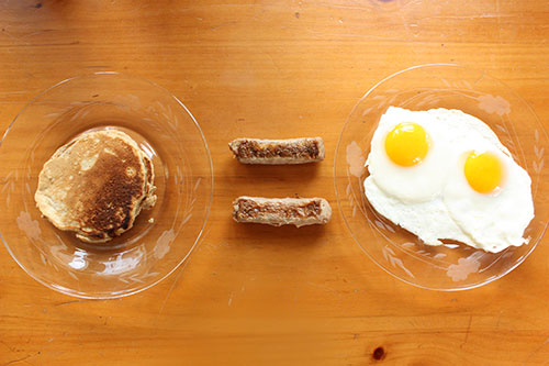 Breakfast Math: One Pancake Equals Two Eggs