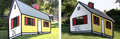 House sculpture by Roy Lichtenstein