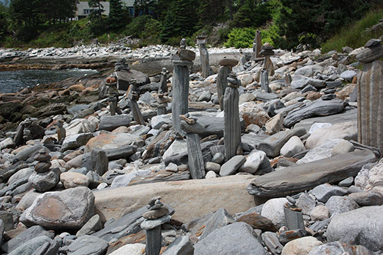 Rock Sculptures at Pemaquid Point Lighthouse