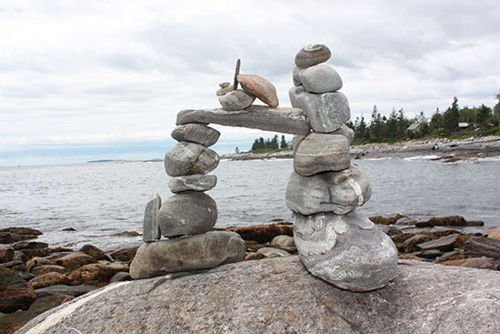 Rock Sculpture at Pemaquid Point Lighthouse