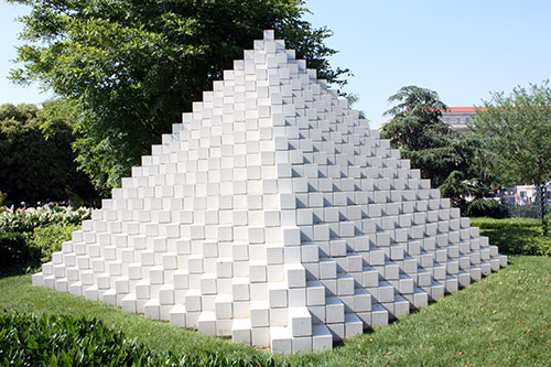 Pyramid sculpture by Sol LeWitt
