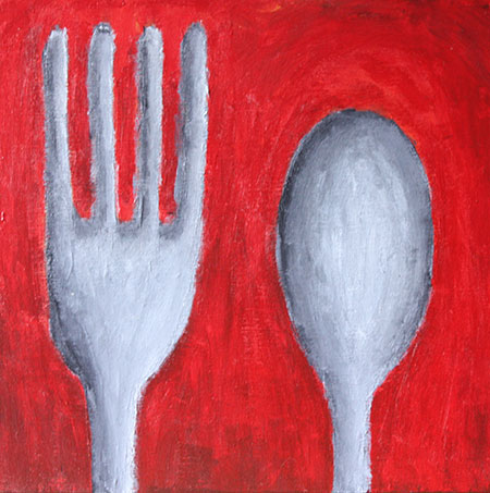 Fork and Spoon Couple painting