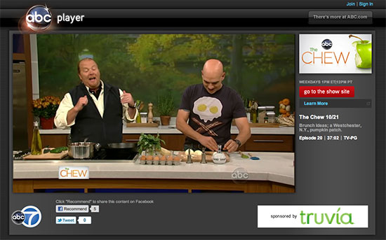 "ABC's ""The Chew"" October 21, 2011 episode"