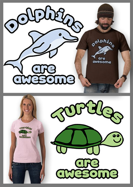 Dolphin and Turtle t-shirt