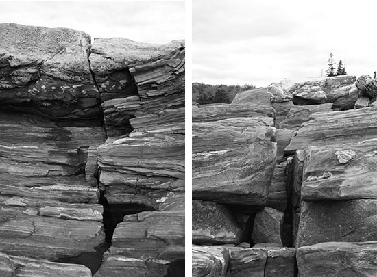 Stones at Pemaquid Point Lighthouse in Maine