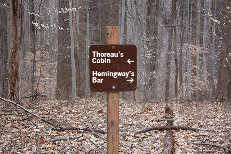 Sign in Nature: Thoreau's Cabin or Hemingway's Bar