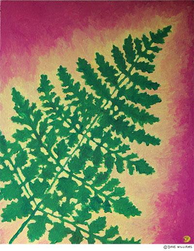 Fern Leaf painting
