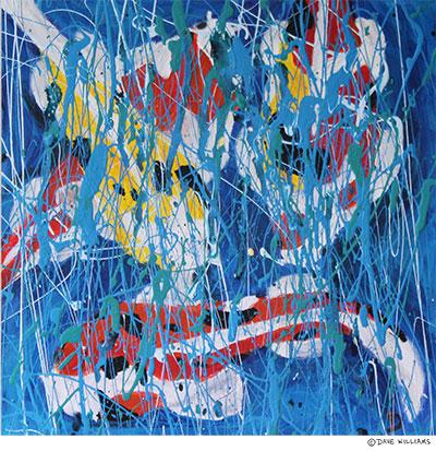 Four Koi Painting