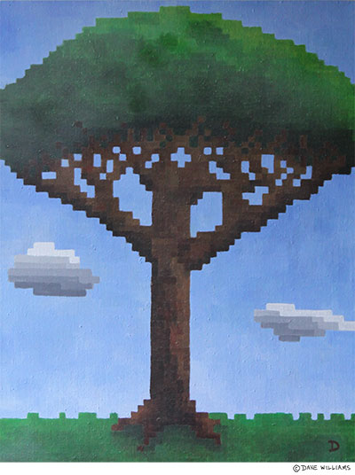 Pixel Tree painting