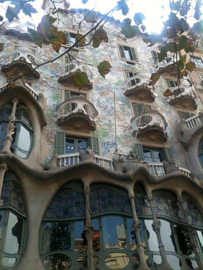 Anton Gaudi building, taken by Kent Bonham