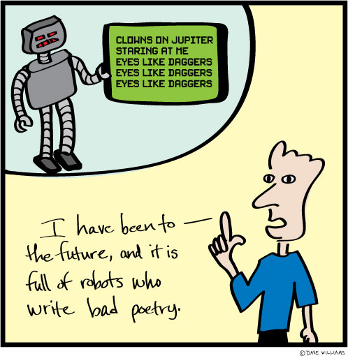 Cartoon about robots of the future
