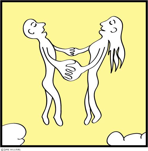 Together illustration for Illustration Friday