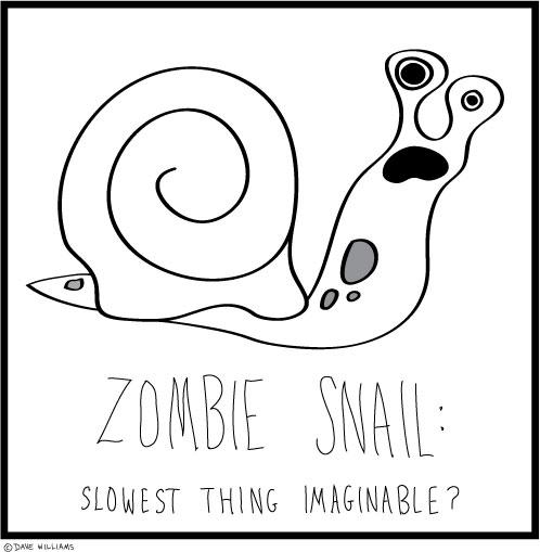 Zombie snail illustration