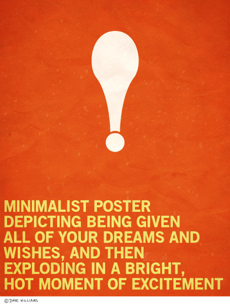 Minimalist poster of being given all your dreams
