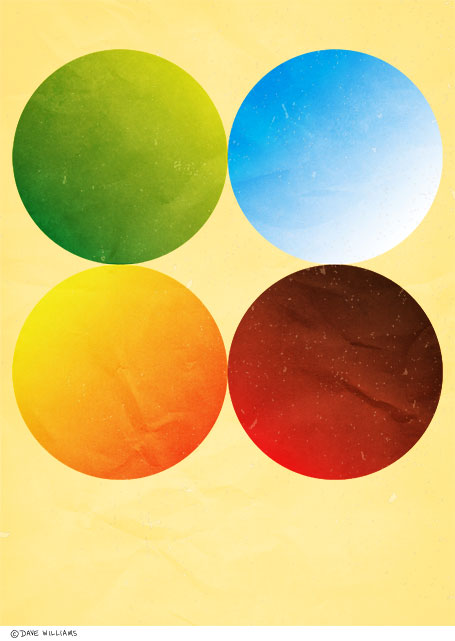 Minimalist poster of the four seasons