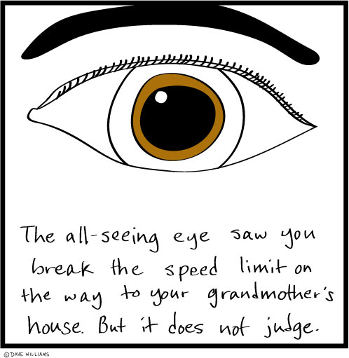 All-seeing eye saw you break the speed limit, but it does not judge