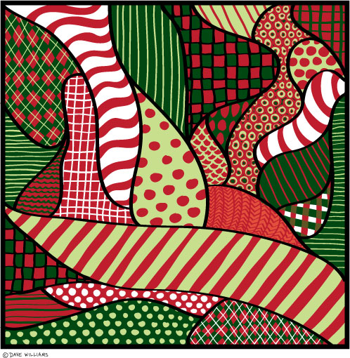 Christmas abstract patterns